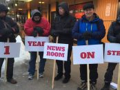 HTU pickets mark one year