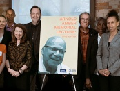Group photo at first Arnold Amber Memorial Lecture
