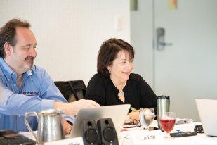CWA Canada President Martin O'Hanlon and Vice-President Lois Kirkup, Ottawa Newspaper Guild.