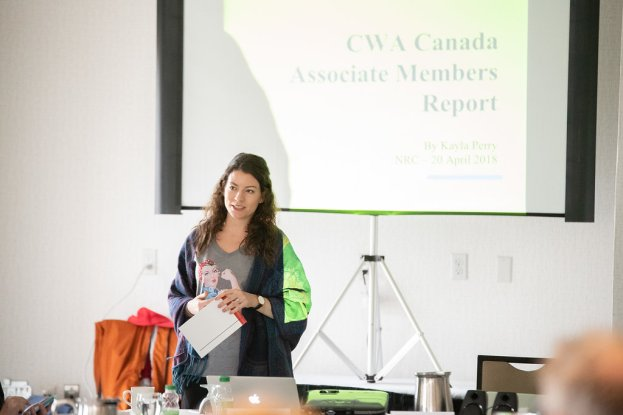 Kayla Perry delivers her report on CWA Canada Associate Members.