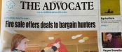 Red Deer Advocate front page