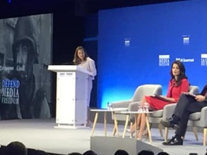 Freeland, Clooney, Hunt at media freedom conference