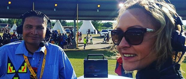 Melissa Ridgen covering World Indigenous Games